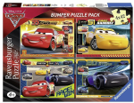Ravensburger - DISNEY CARS 3 Bumper Puzzle Pack - 4 x 32 Pieces - NEW